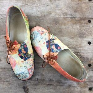 ICON artsy loafer shoe - wearable art!
